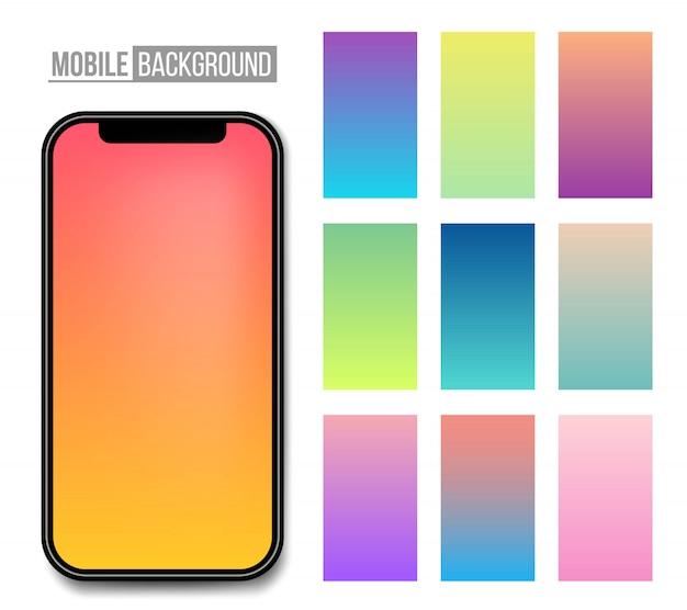 携帯アプリの柔らかい色の背景。 Premiumベクター