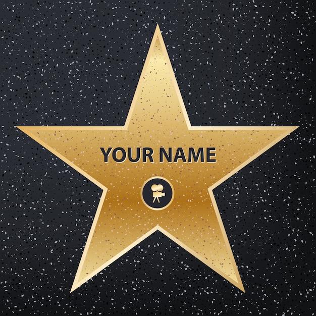 Тротуар знаменитого актера-звезды. голливудская аллея славы Premium векторы