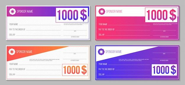支払イベント当選小切手 Premiumベクター