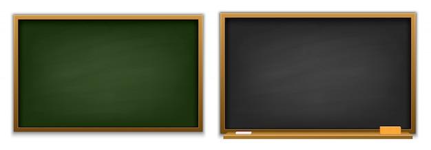 Классная доска, учебная доска Premium векторы