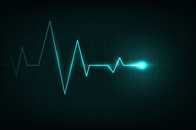 心臓線心電図、医療心拍パルス。 Premiumベクター
