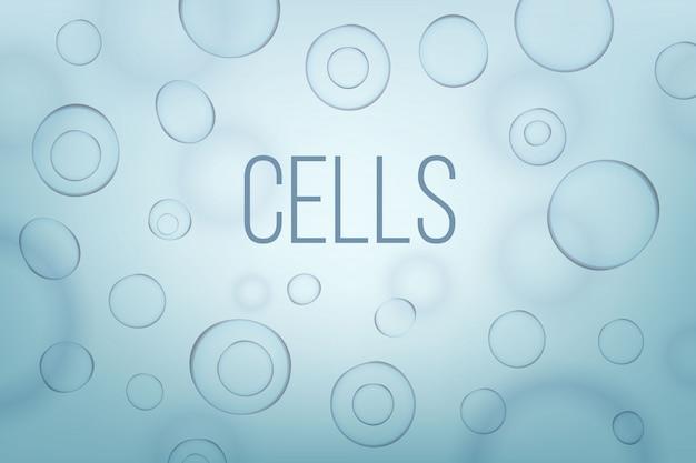 生命生物学細胞医学の科学的背景。 Premiumベクター