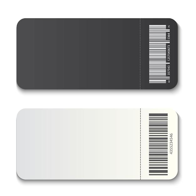 空のチケットテンプレートモックアップ招待状クーポン。 Premiumベクター