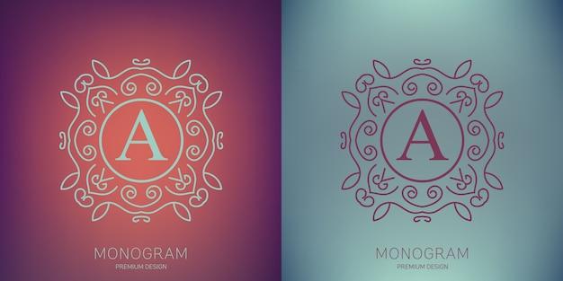 ベクトルビンテージモノグラムのロゴ Premiumベクター