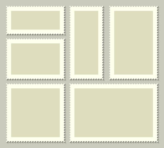 Пустые почтовые марки для почты Premium векторы