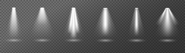 明るい照明スポットライト、ライト、照明 Premiumベクター