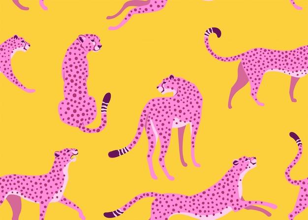 Леопард бесшовные модели. Premium векторы