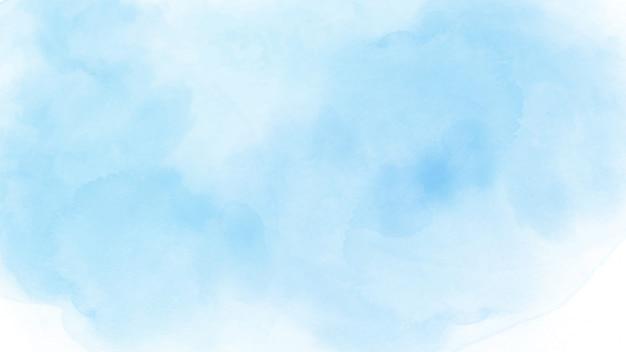 抽象的な手描きの背景の水彩画の空と雲。 Premiumベクター