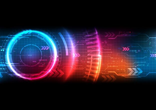 未来的な技術の背景のベクトル Premiumベクター