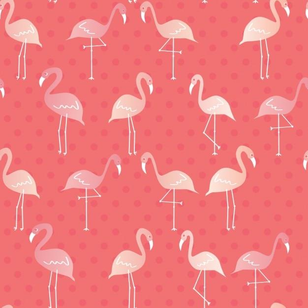 フラミンゴのパターン設計 無料ベクター