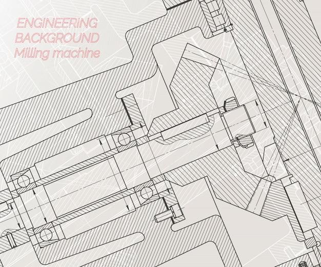 機械工学図面 Premiumベクター