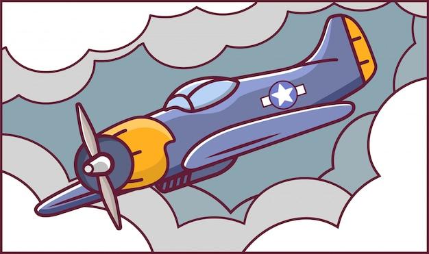 Американский самолет истребитель Premium векторы