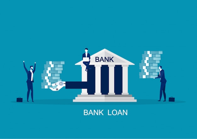 Банковские инвестиционные предложения, концепция рефинансирования Premium векторы