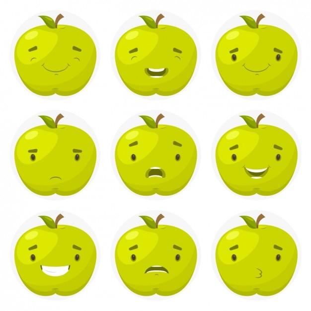 アップルのスマイリー 無料ベクター