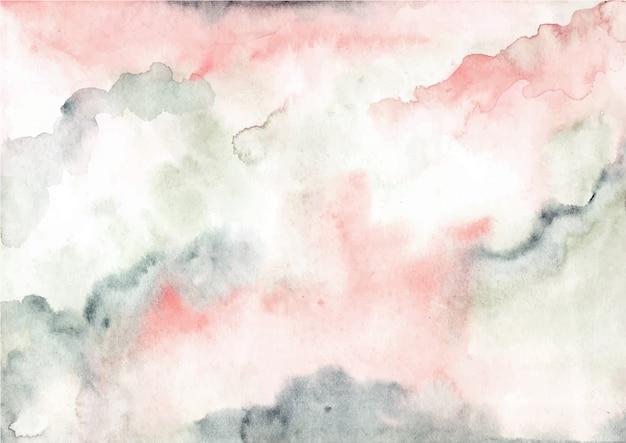 ピンクグリーンの抽象的な水彩テクスチャ背景 Premiumベクター