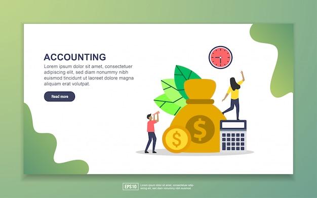 お金を節約し、経済的自由と予算ビジネスのランディングページ Premiumベクター
