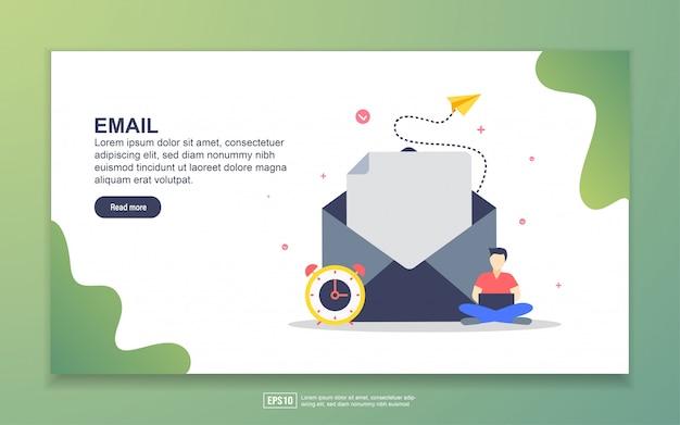 Шаблон целевой страницы электронной почты Premium векторы
