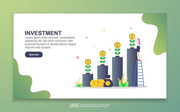 投資のランディングページテンプレート Premiumベクター