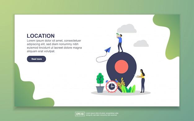 Шаблон целевой страницы. современная плоская концепция дизайна веб-страницы для сайта и мобильного сайта Premium векторы