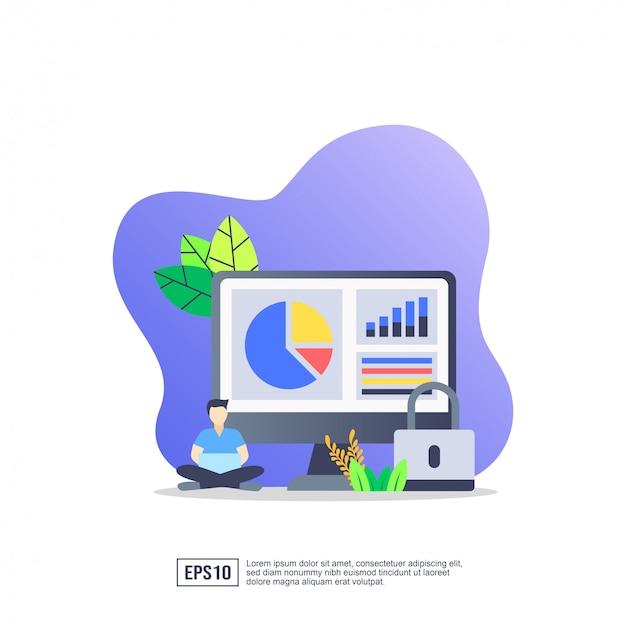 データ証券のベクトル図の概念 Premiumベクター