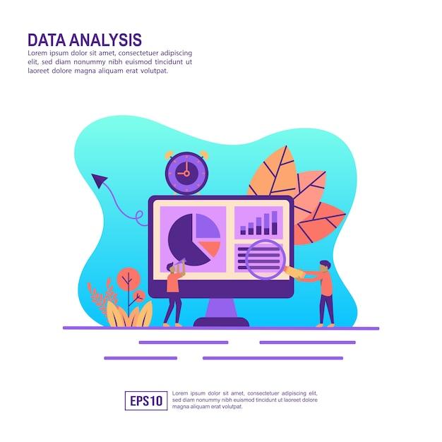 Векторная иллюстрация концепции анализа данных Premium векторы