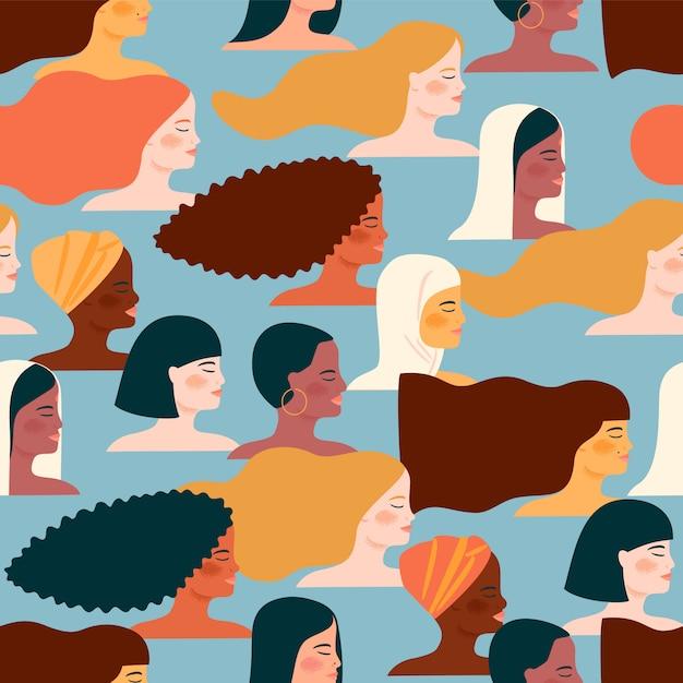 Международный женский день Premium векторы