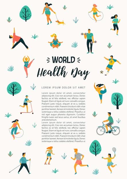 世界保健デー Premiumベクター