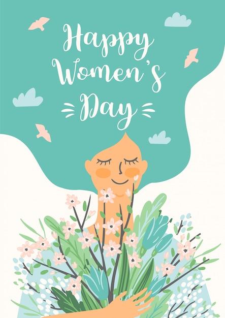 国際女性の日イラスト Premiumベクター
