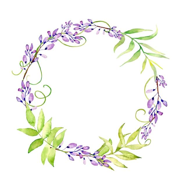 Красивые весенние цветочные венки. Premium векторы