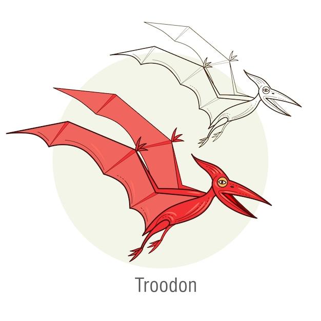 恐竜-テロダクティル Premiumベクター