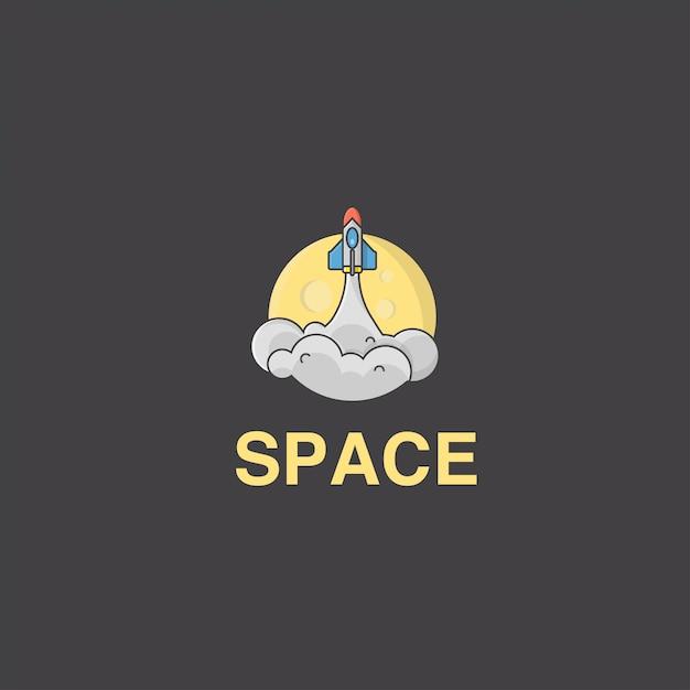 ロケット滑空のアイコンロゴ Premiumベクター