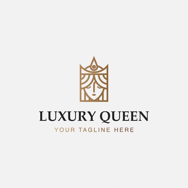 Иконка логотип минималист королевы роскоши Premium векторы