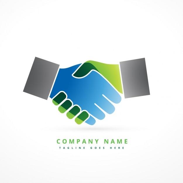 Красочные дрожание рук логотип Бесплатные векторы