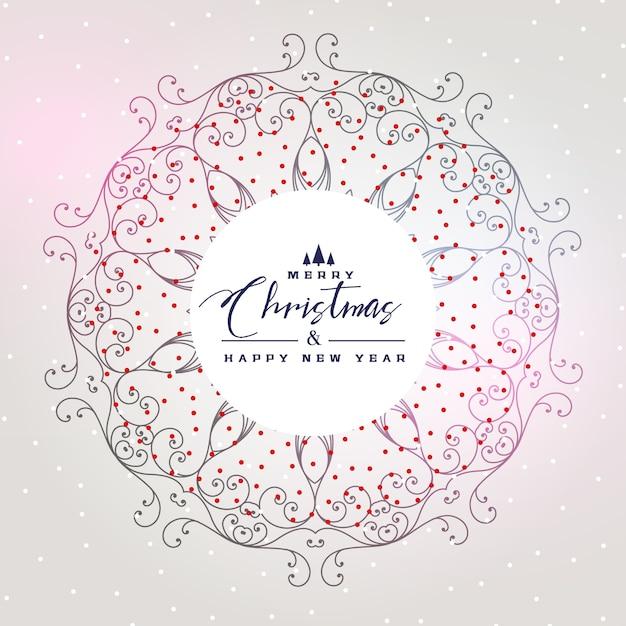 Красивый рождественский фон с мандалы украшения Бесплатные векторы