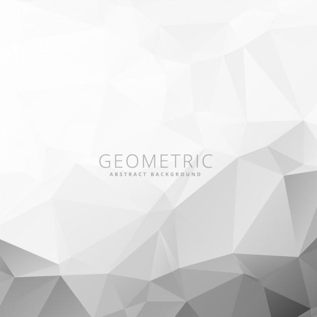 グレーと白の幾何学的背景 無料ベクター