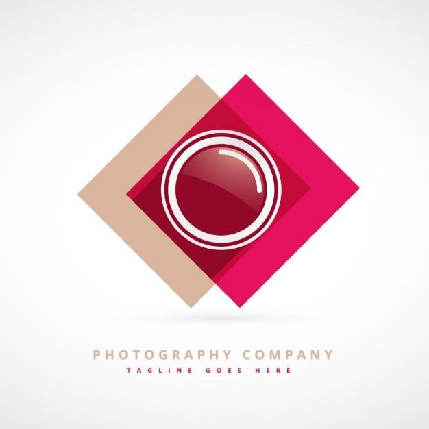 写真のデザインのロゴ 無料ベクター