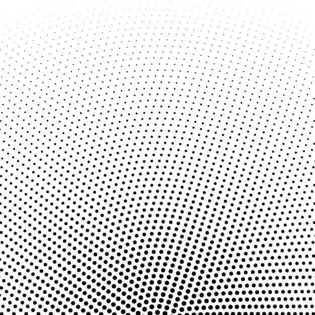 円形ハーフトーンドットベクトルの背景 無料ベクター