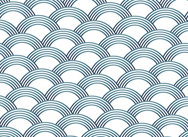 抽象的なさしこスタイルのベクトルパターン 無料ベクター