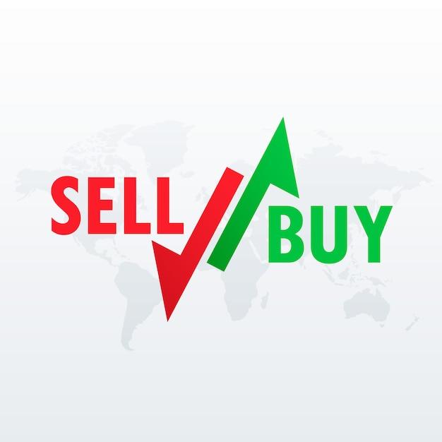 Покупать и продавать стрелки для торговли на фондовом рынке Бесплатные векторы