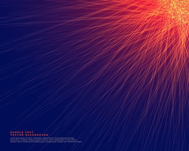 赤い線が輝く抽象的な青い背景 無料ベクター