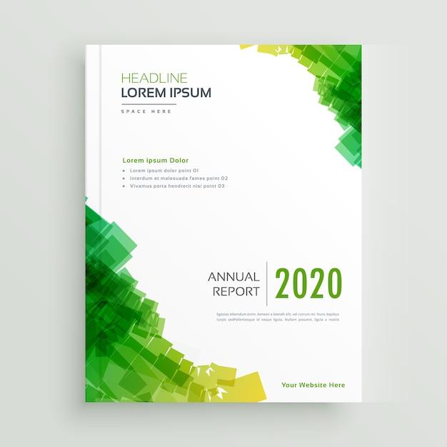 エレガントな緑の抽象的なパンフレットのデザイン 無料ベクター
