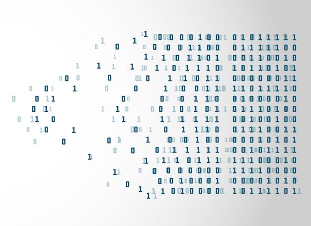 バイナリコードのネットワーク技術のコンセプト背景 無料ベクター