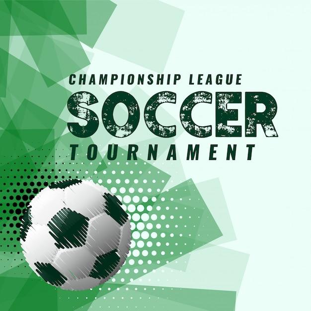 グランジスタイルの抽象的なサッカートーナメントの背景 無料ベクター