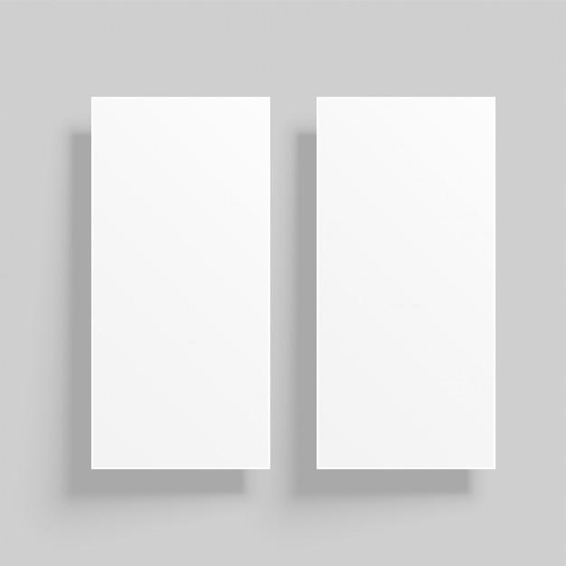 シャドー付きの縦型カードモックアップ 無料ベクター