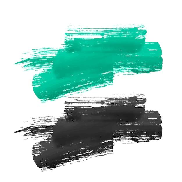 手塗りのブラシストロークデザイン 無料ベクター