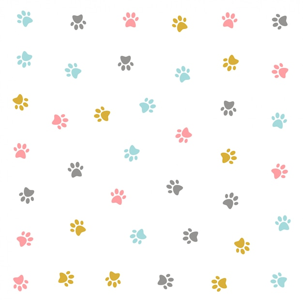 Симпатичный красочный дизайн котенка Бесплатные векторы