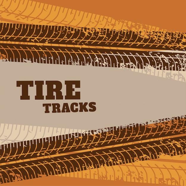 抽象的なタイヤトラックマークの背景 無料ベクター