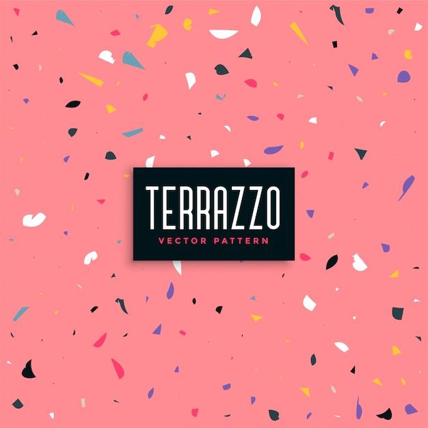 ピンクのテラゾーのパターンの背景のデザイン 無料ベクター
