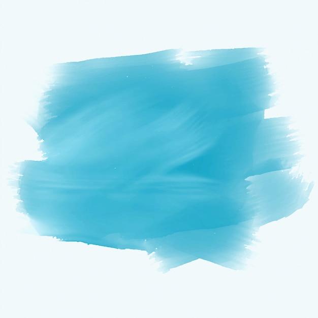 ターコイズ色の水彩ブラシストロークの背景 無料ベクター