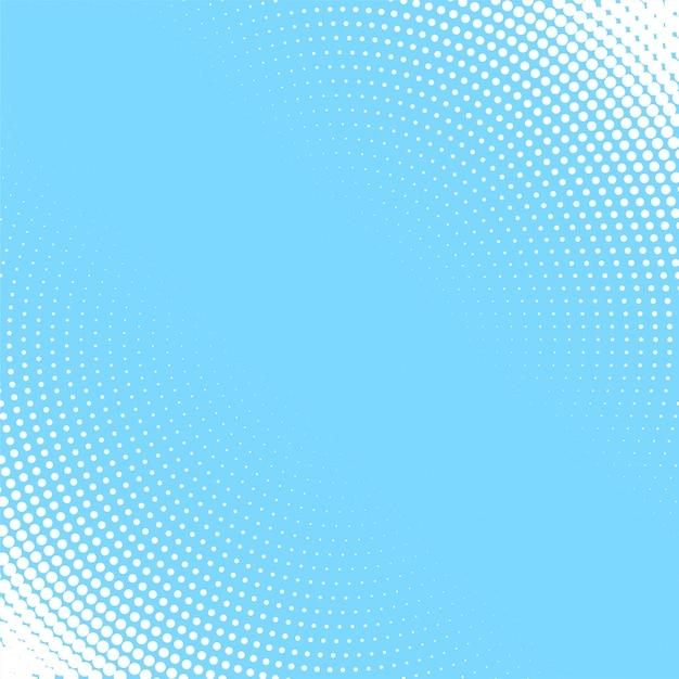 白い円形のハーフトーンパターンのライトブルーの背景 無料ベクター